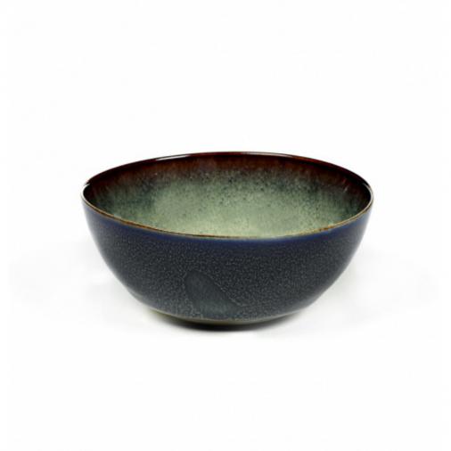 Miska Bowl S Misty Grey / Dark Blue Serax