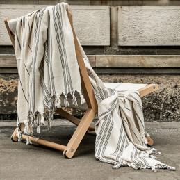 Ręcznik Monochrome Petra Linen z frędzlami