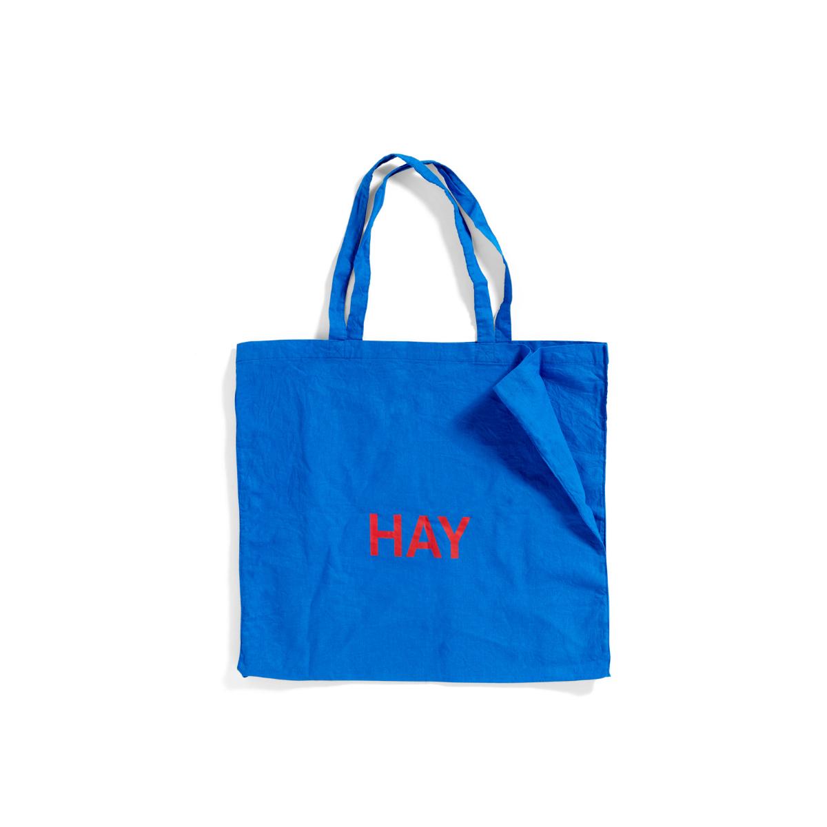 Bawełniana Torba Niebieska Tote Bag L z czerwonym logo HAY