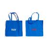 Niebieskie bawełniane torby HAY z białym i czerwonym logo