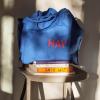 Niebieska Torba na zakupy z czerwonym logo HAY