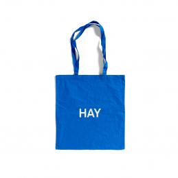 Niebieska Torba Tote Bag białe logo HAY