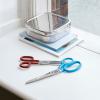 czerwone i niebieskie nożyczki na biurku - HAY