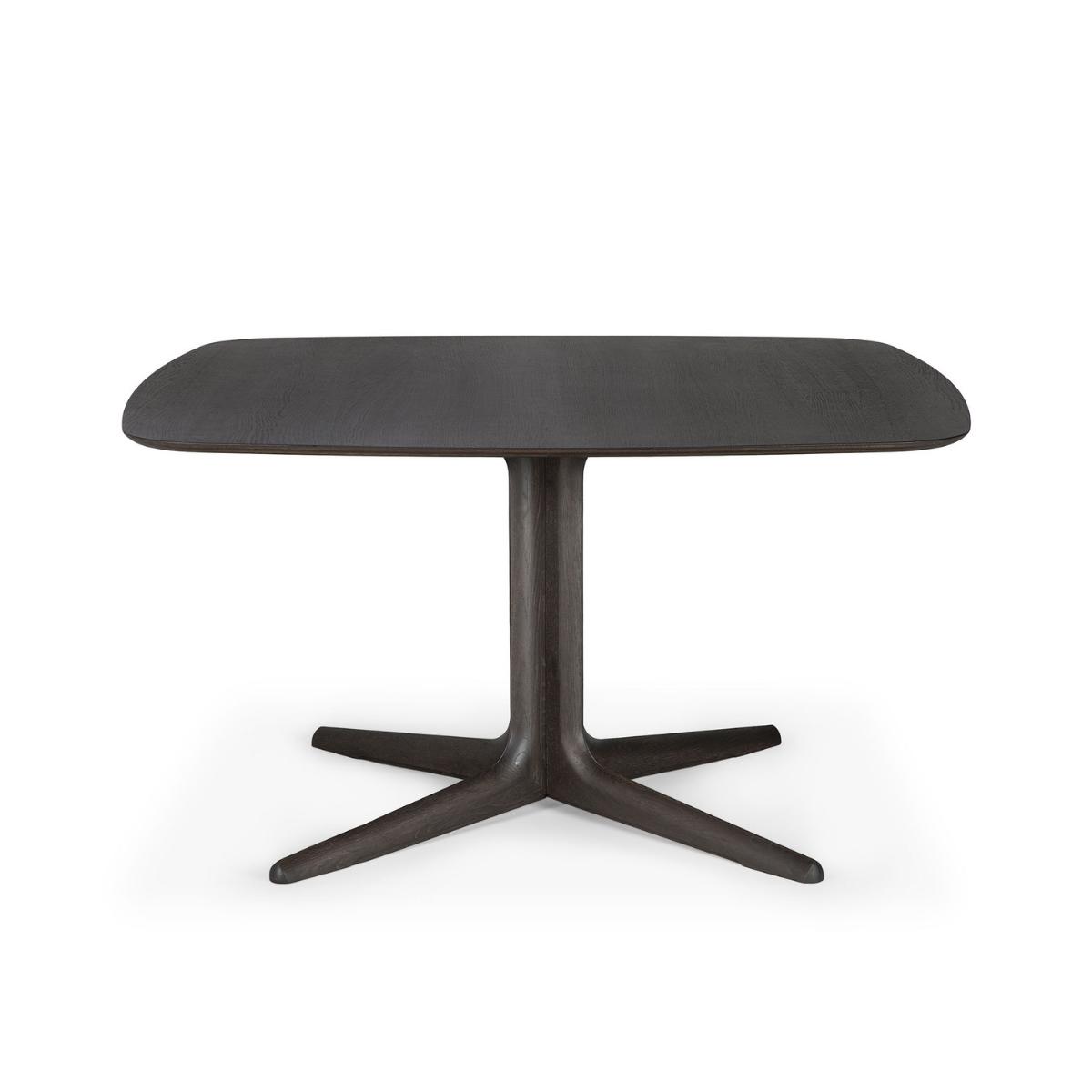 Kwadratowy stół dębowy Corto Brown Ethnicraft