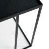 Detale stolika bocznego Square Tray Ethnicraft ze stali i drewna