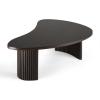 Mały stolik kawowy Boomerang Dark Brown Ethnicraft na dwóch nogach