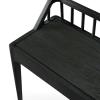 Siedzisko ławki Spindle z drewna w kolorze czarnym