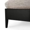 Detale łóżka Spindle w kolorze czarnym od Ethnicraft