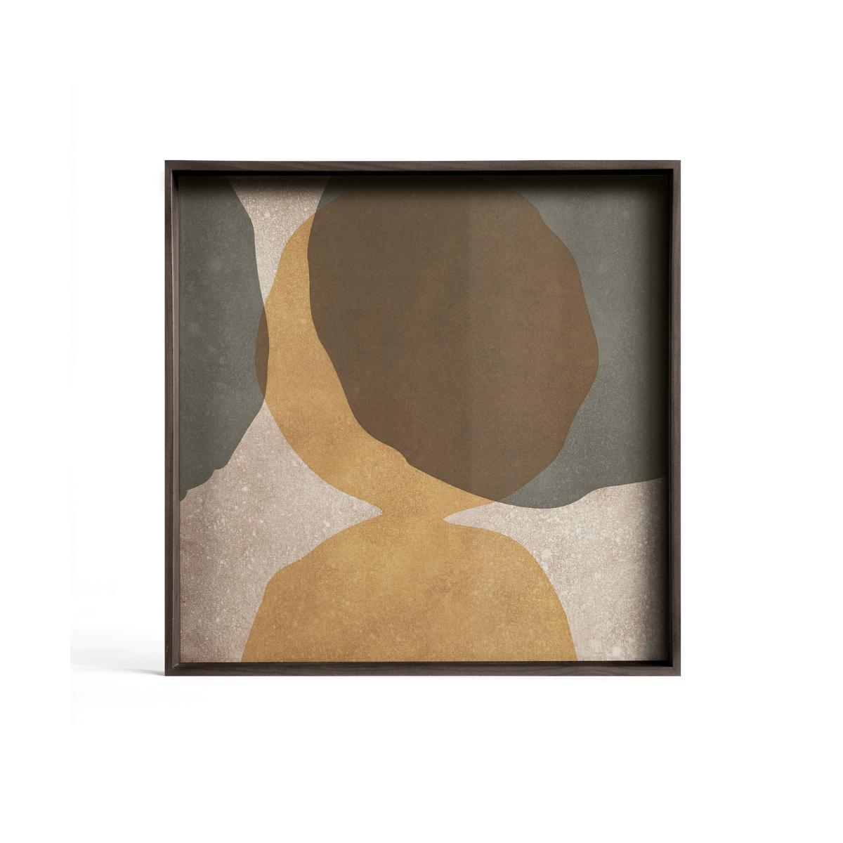 Taca dekoracyjna Cinnamon Overlapping Dots Glass S Ethnicraft