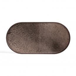 Taca dekoracyjna Bronze Mirror M Ethnicraft