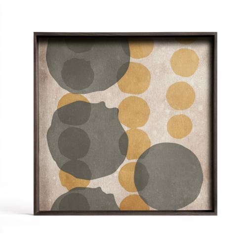Taca dekoracyjna Cinnamon Layered Dots Glass L Ethnicraft