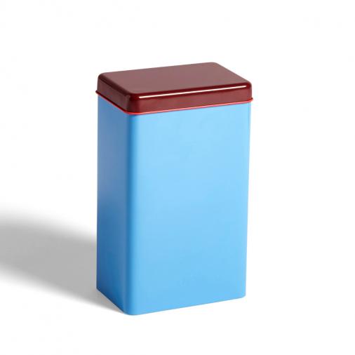 Pojemnik Tin by Sowden Blue HAY z czerwoną pokrywką