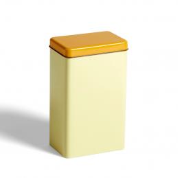 Pojemnik Tin by Sowden Yellow HAY z ciemnieszą pokrywką