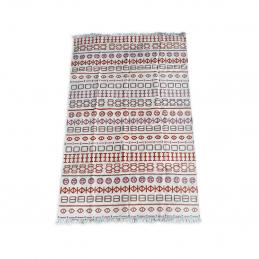 wzorzysty dywan z frędzlami Naidu Kilim 170x240 GAN