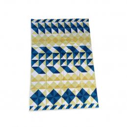 Wzorzysty dywan Mosaiek Kilim 200x300 yellow GAN