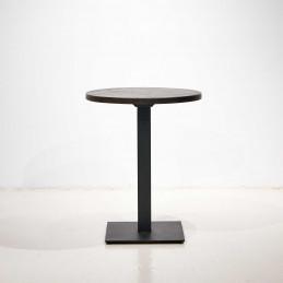 Drewniany stolik Ø60 na kwadratowej podstawie od NAP