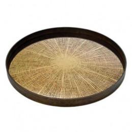 Taca dekoracyjna Bronze Slice Notre Monde