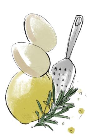 babka cytrynowa z rozmarynem