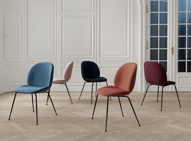 Tapicerowane krzesło Beetle