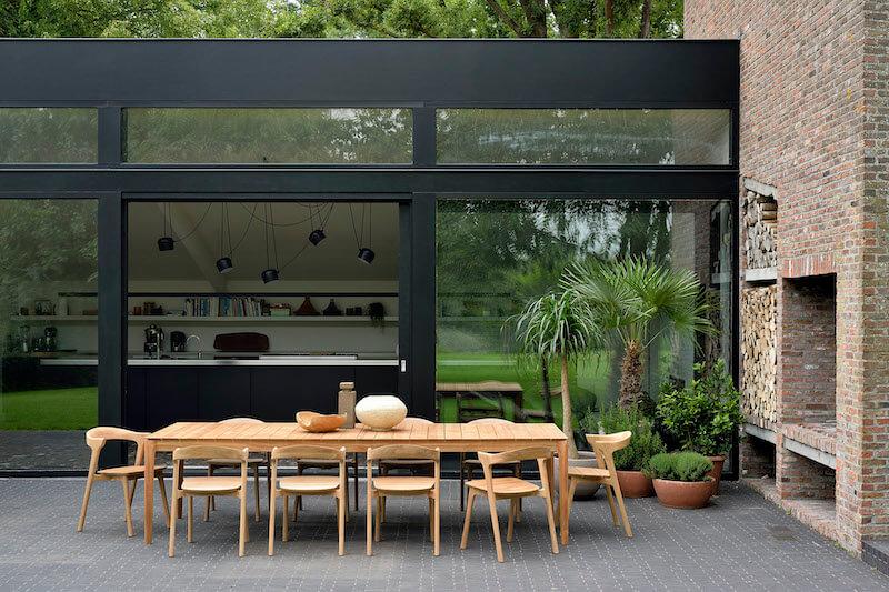 Stół ogrodowy z drewna tekowego Bok Ethnicraft