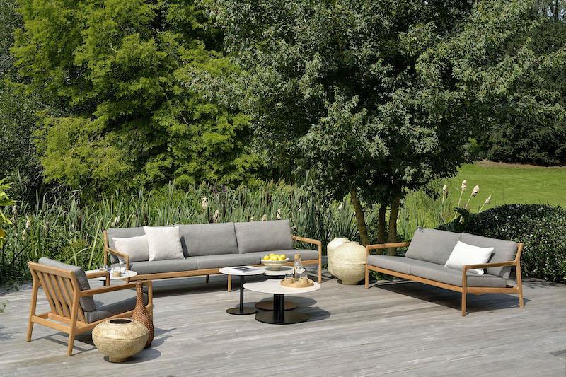 Sofa z drewna tekowego Jack Ethnicraft