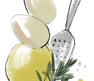 Cytrynowa babka z ricottą i rozmarynowym lukrem | przepis