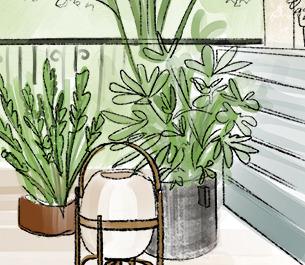 Mały balkon / duży taras